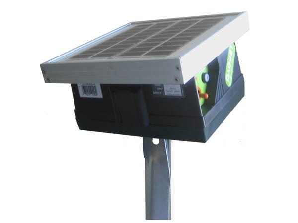 Electrificateur de cloture electrique pour chien avec accu et panneau solaire - Cloture chien jardin ...