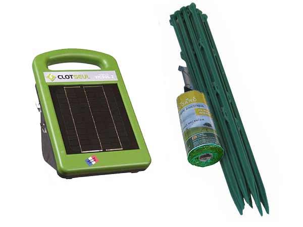 kit de cloture lectrique solaire pour chien complet et. Black Bedroom Furniture Sets. Home Design Ideas